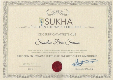 diplome praticien en hypnose spirituelle énergetique et symbolique
